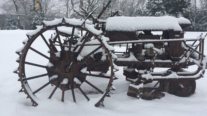 Antique Tractor #3 Steel Wheels